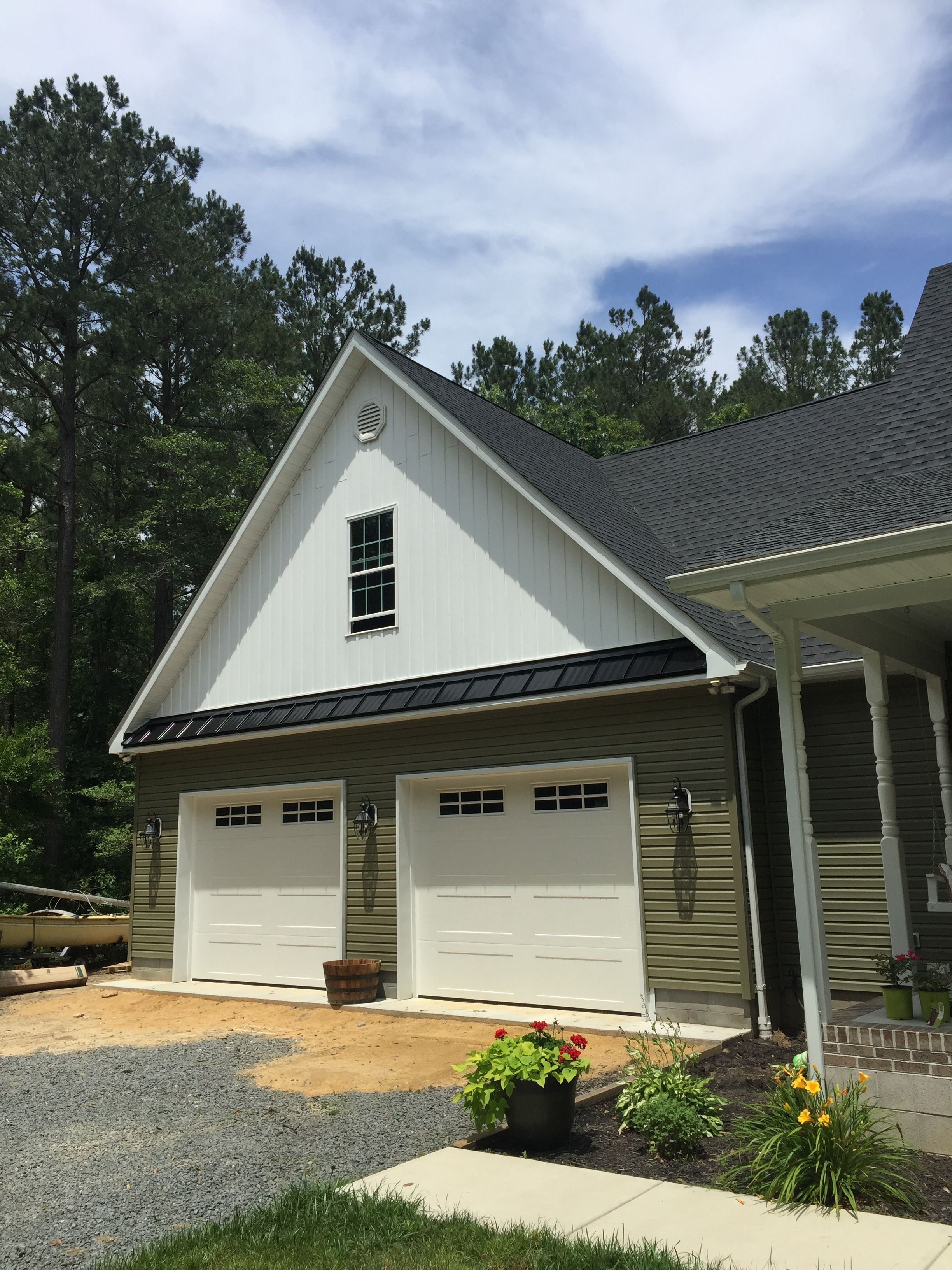 A 30x30 Garage Addition With A Bonus Room Above Accessed By The