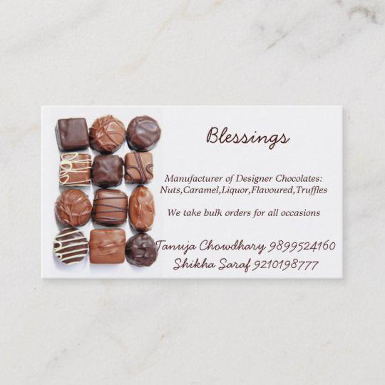 Assorted Chocolates Business Cards Zazzle Com Chocolate Assortment Business Cards Menu Design Inspiration