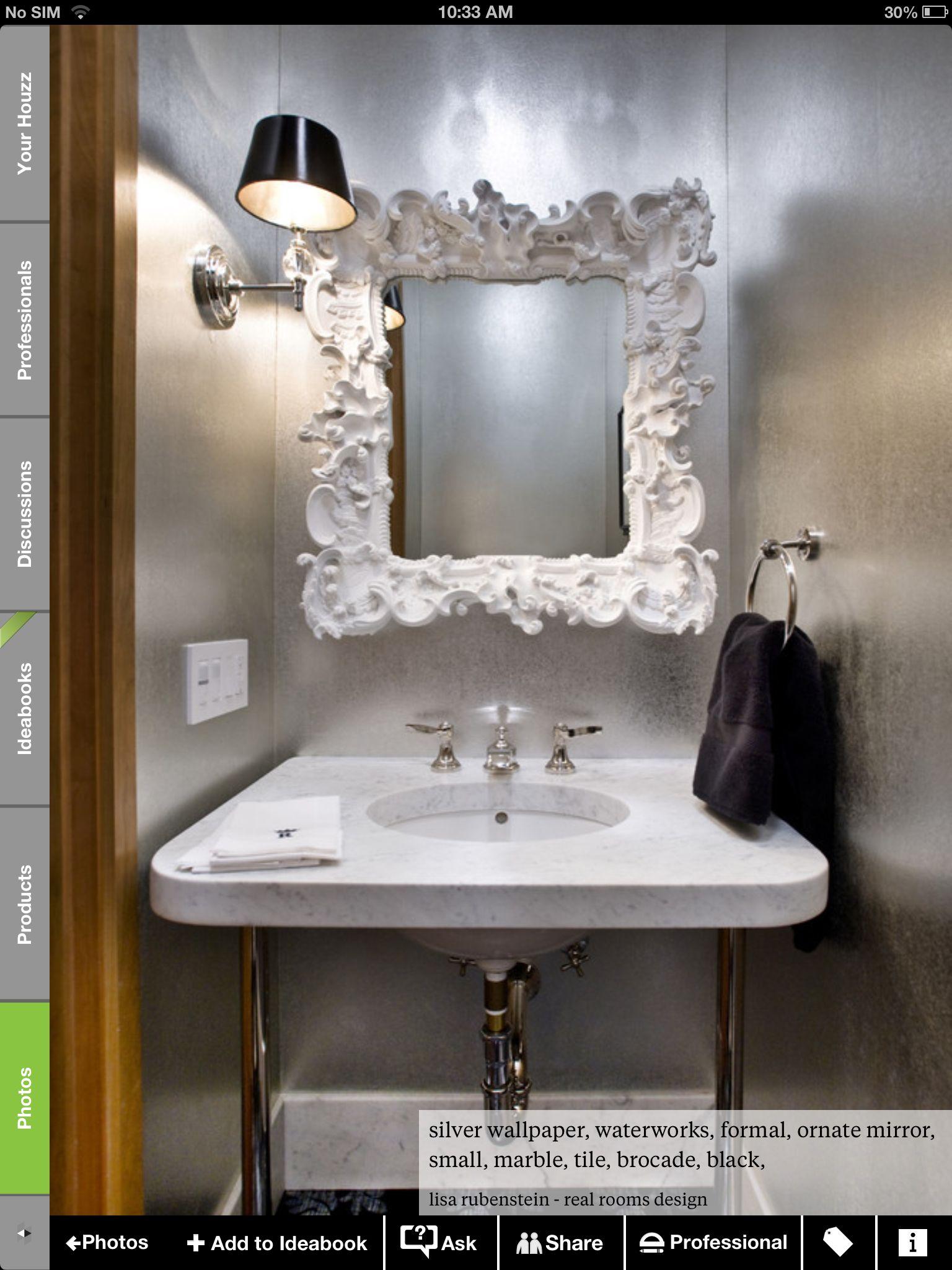 Powder Room Fancy Mirror Powder Room Design Powder Room