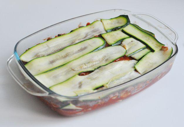 lasagne van courgette bladen