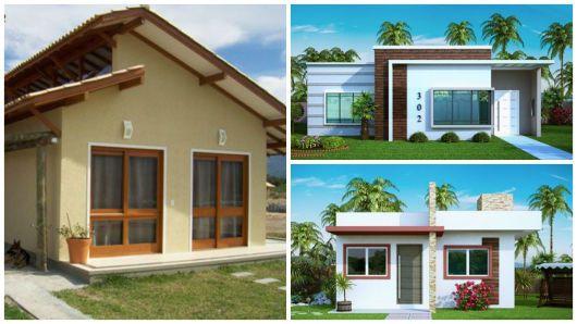 Projetos para casa t rrea pequena so projeto pinterest for Deco de casas pequenas