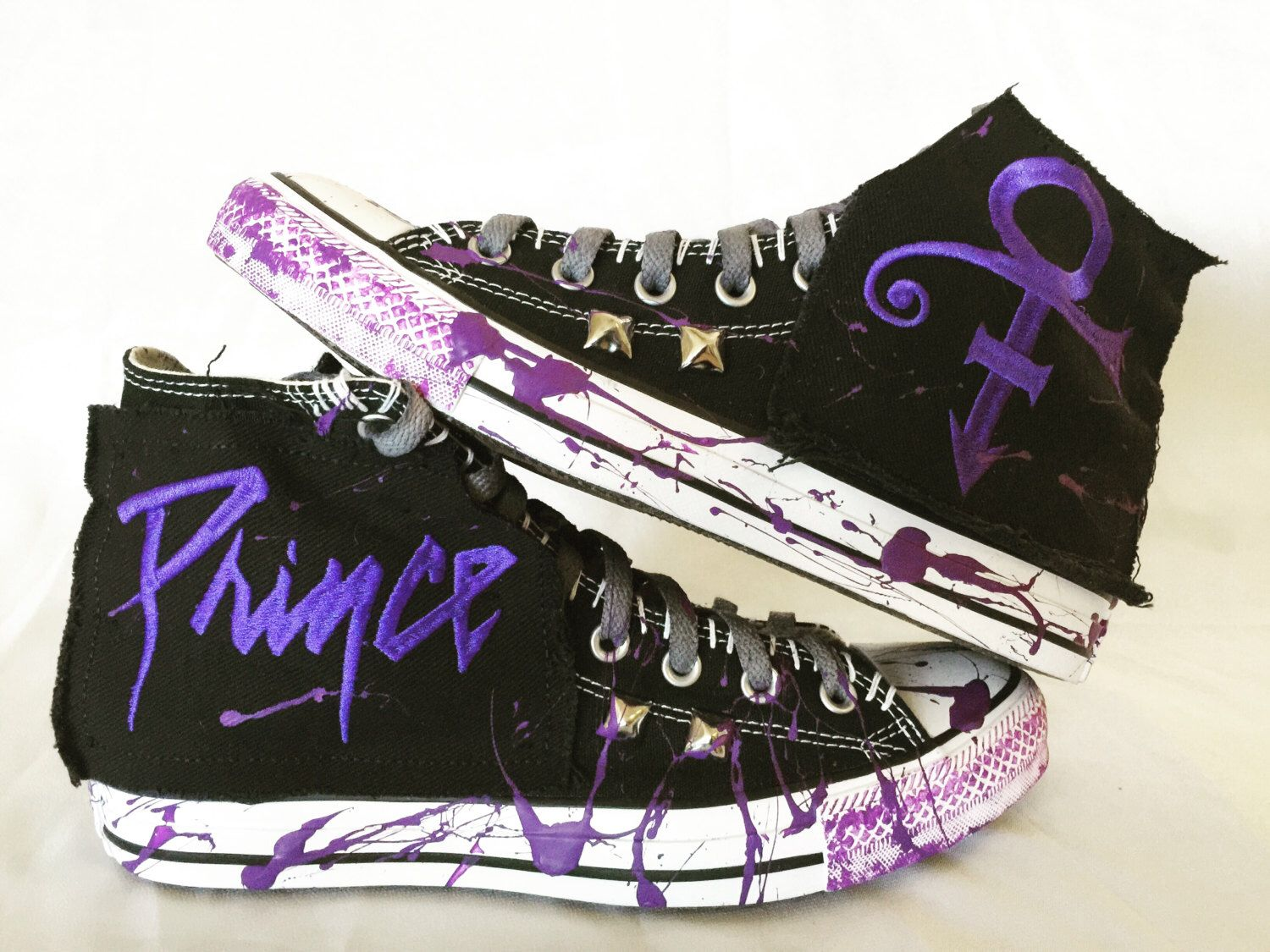 Prince All Star shoes by Chad Cherry by ChadCherryClothing on Etsy https://www.etsy.com/listing/281304220/prince-all-star-shoes-by-chad-cherry