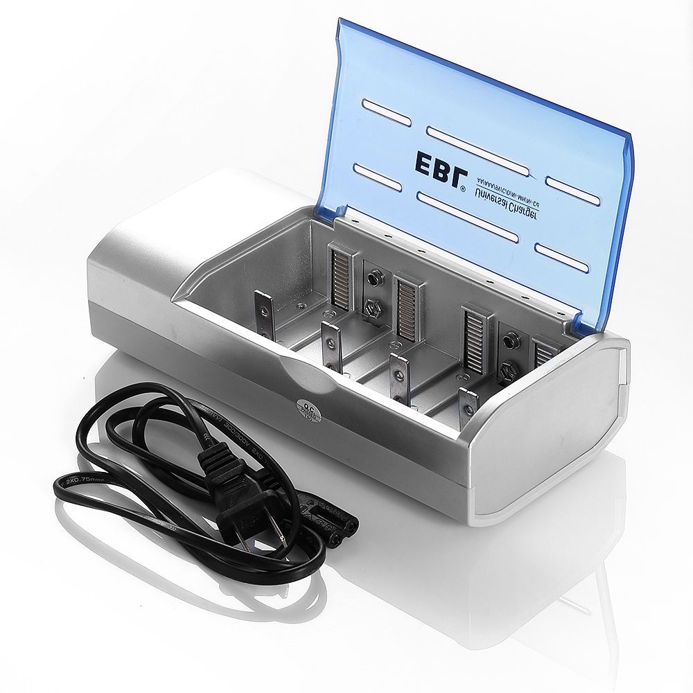 EBL Battery Charger For C D Size AA AAA 9V Ni-MH Ni-CD Rechargeable Batteries #EBL