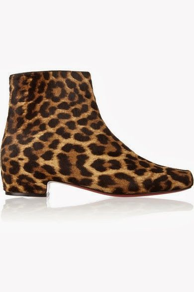 Shop on-sale Christian Louboutin Tounoir leopard-print calf hair ankle boots.  Browse other discount designer Boots & more on The Most Fashionable Fashion  ...