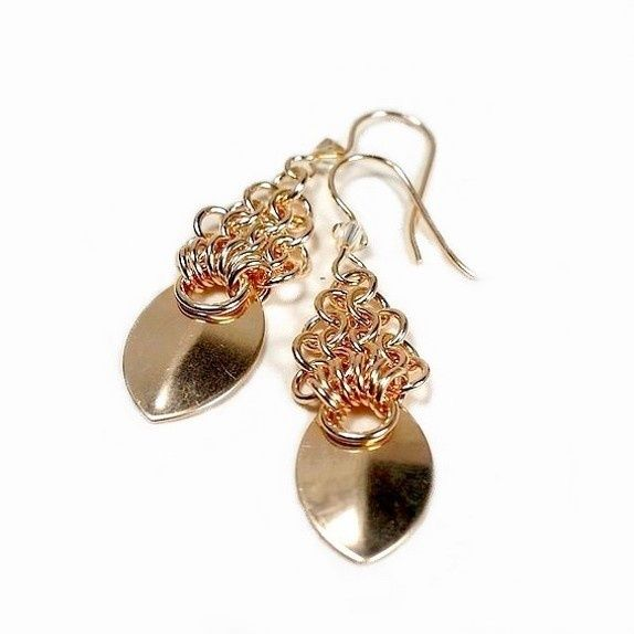 Pic Only - Scale maille Earrings