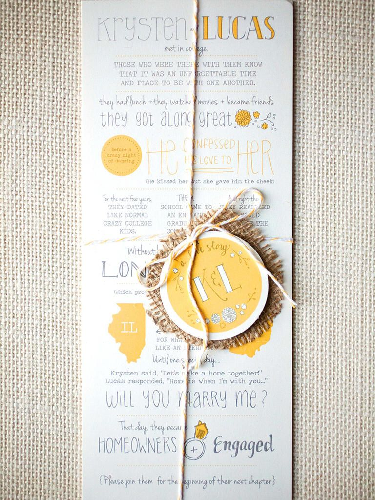 15 unexpected invitation trends youll love pinterest invitation walk your guests through your love story with a fun timeline of events as your wedding invitation design think first date first kiss and the proposal stopboris Choice Image