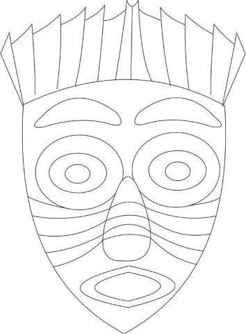 25 Mascaras Africanas para Imprimir - Educação Infantil - Aluno On ...