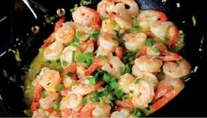 #DiningIn Lemony Garlic Shrimp recipe