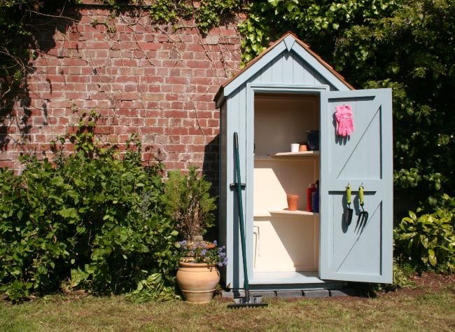 Garden Sheds Exeter delightful 3'x2' sentry box tool store from the fantastic handmade