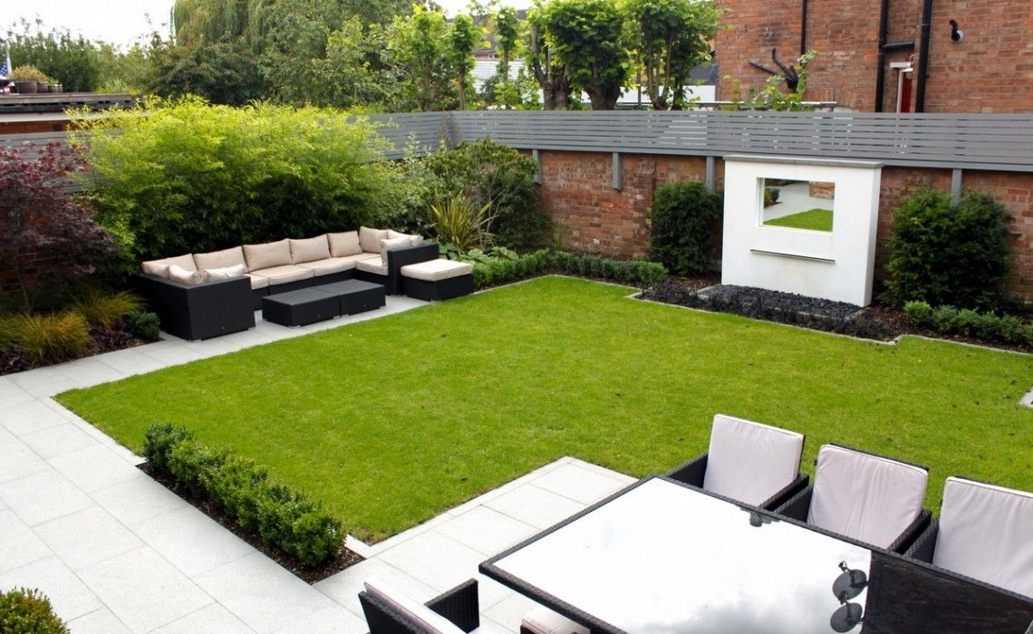 city garden modern garden garden design garden design cheshire box hedge - Garden Design Cheshire