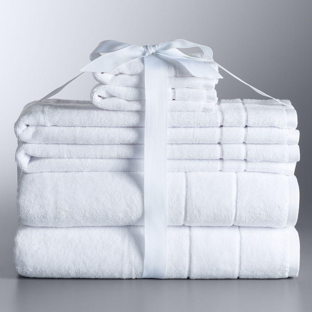 Simply Vera Vera Wang 6 Piece Turkish Cotton Bath Towel Set White