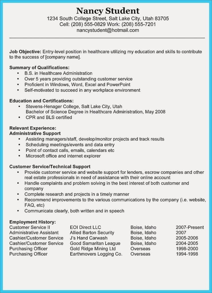 27 Describe Customer Service Experience Resume Skills Teacher Resume Examples Medical Assistant Resume
