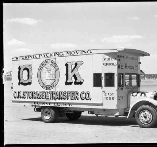 OK Storage U0026 Transfer Co. Truck, Louisville, Kentucky. 1930u0027s