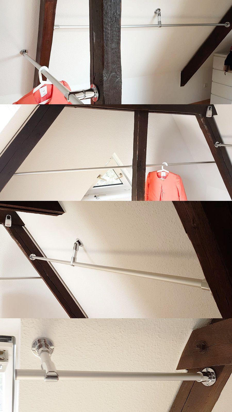kundenfoto: dachboden als kleiderschrank nutzen. kleiderstange nach