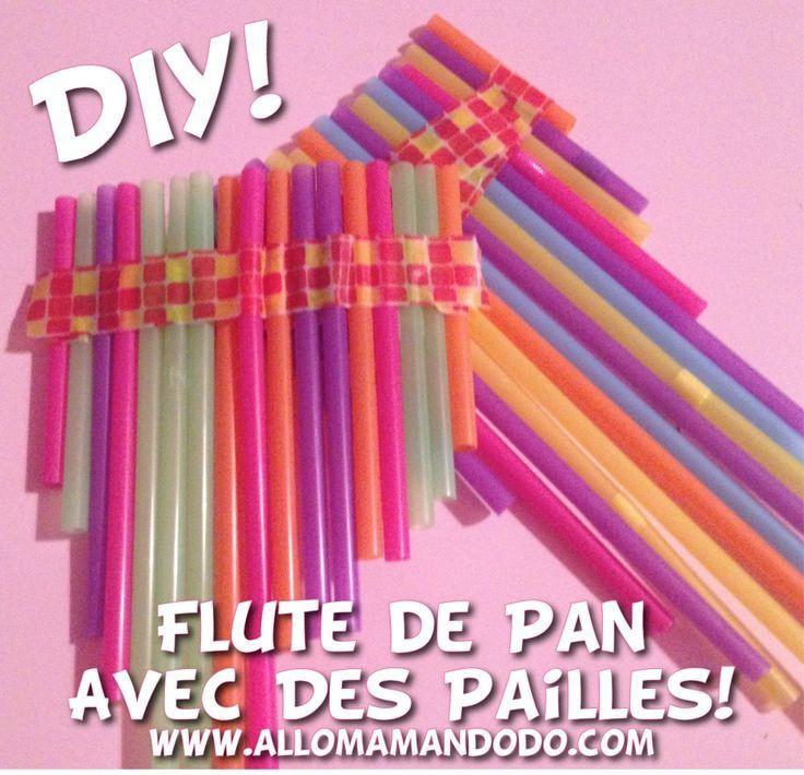 Diy fabrique une flute de pan avec des pailles fl te de - Fabriquer un instrument de musique original ...