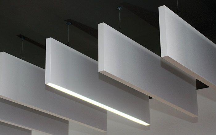 Concrete Lighting Acoustic Ceiling Panels Acoustic