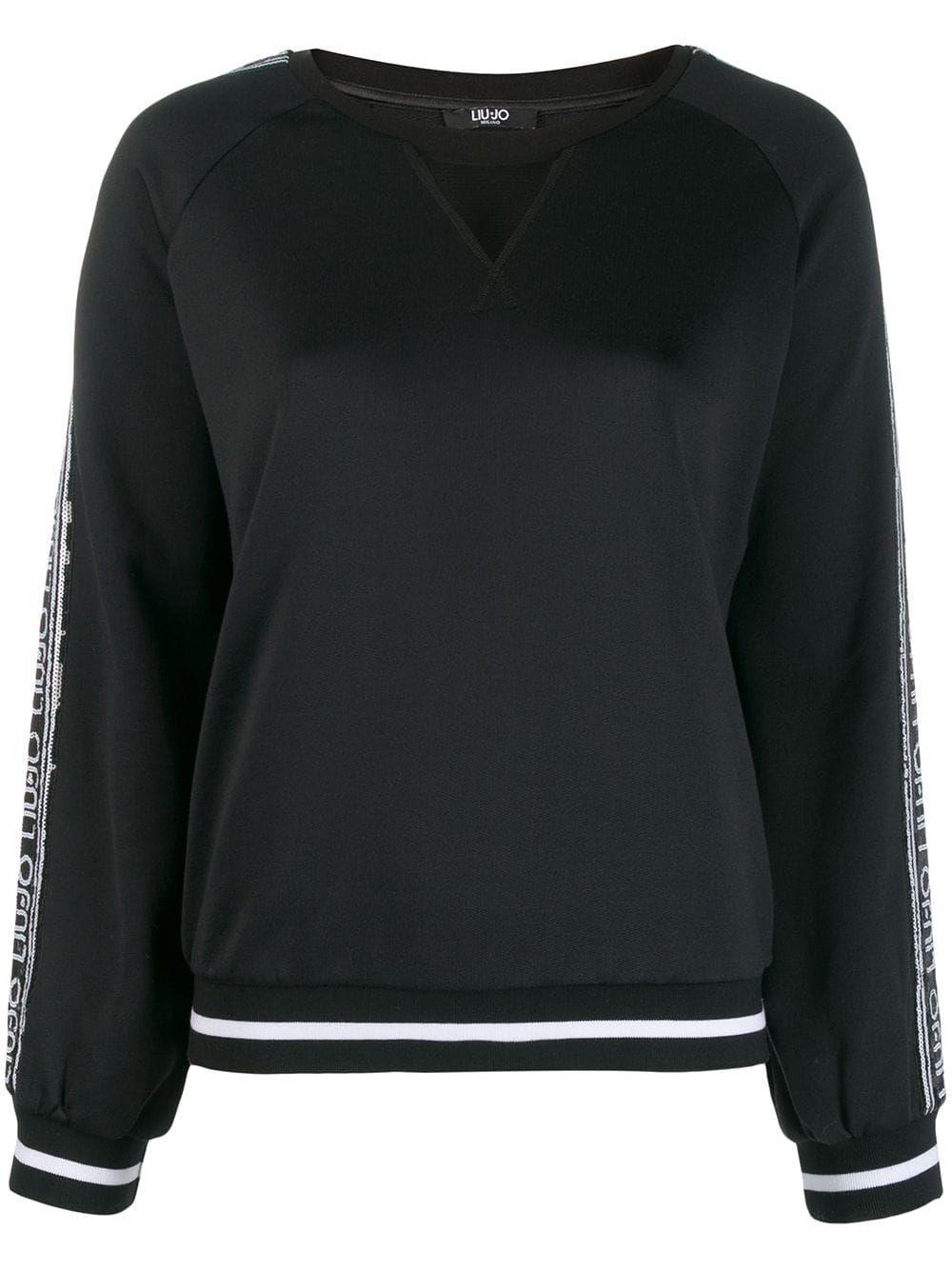 LIU JO sequin embellished Logo Sweatshirt   Sweatshirts, Liu
