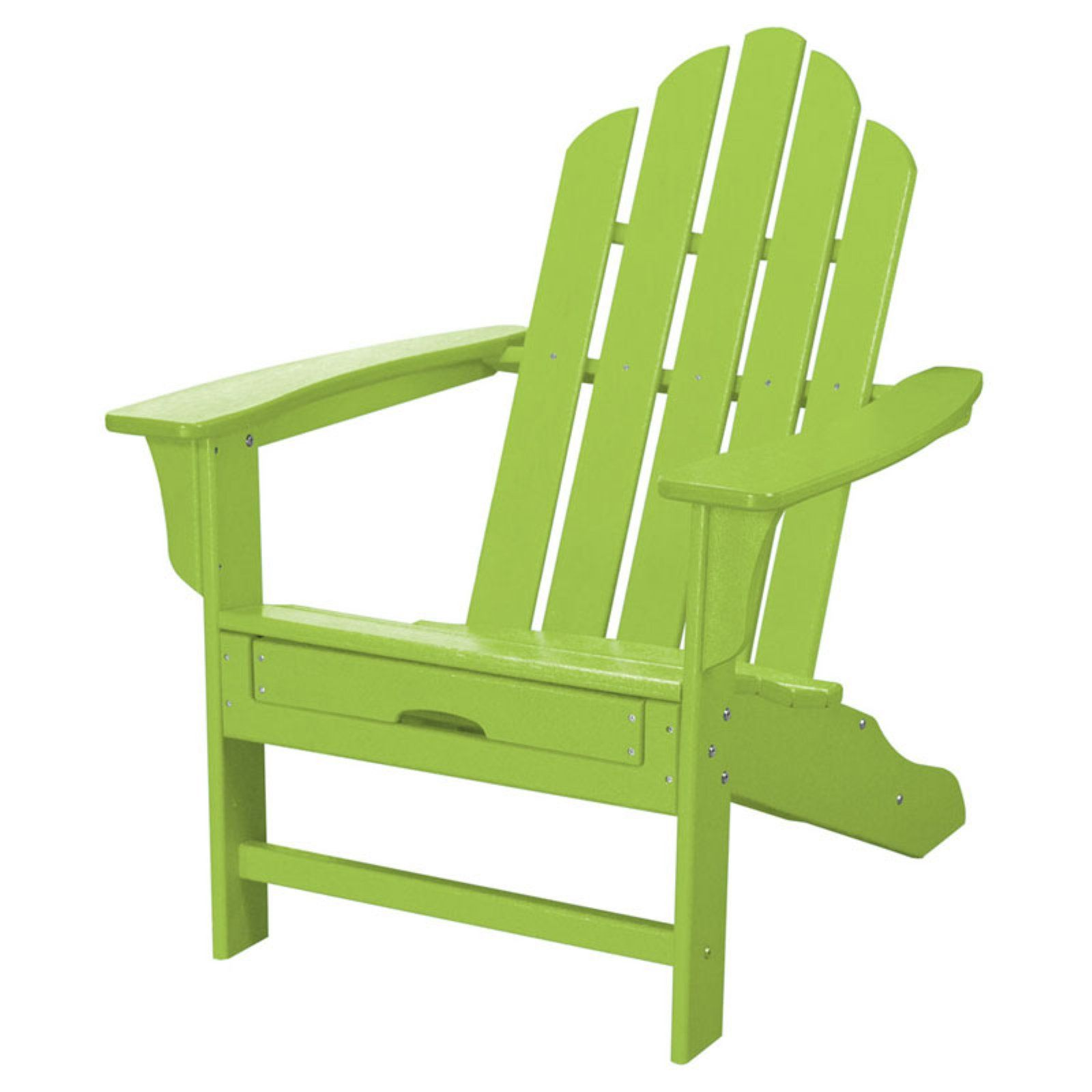 Outdoor Hanover All Weather Adirondack Chair With Pull Out Ottoman