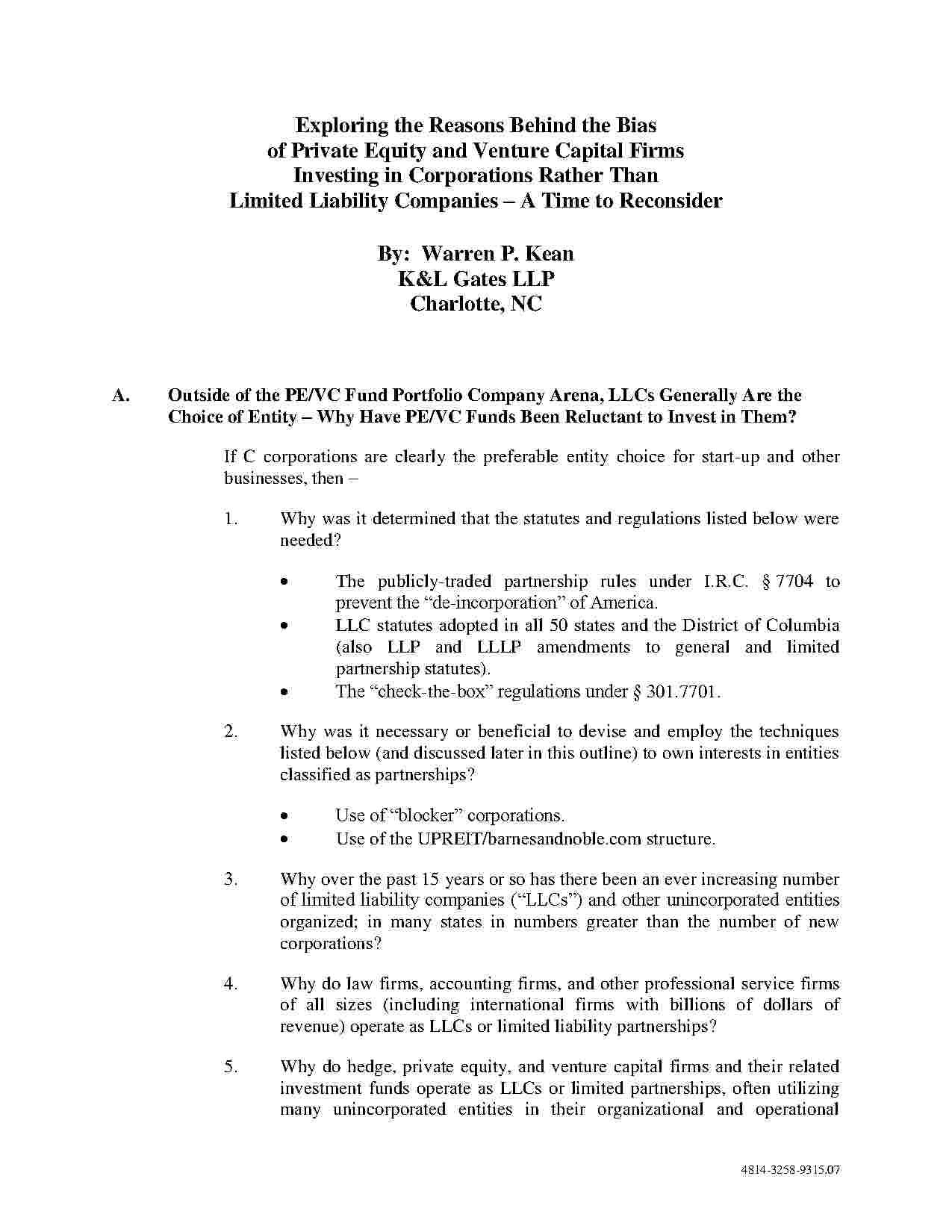 Templates Limited Liability Company (LLC) Operating