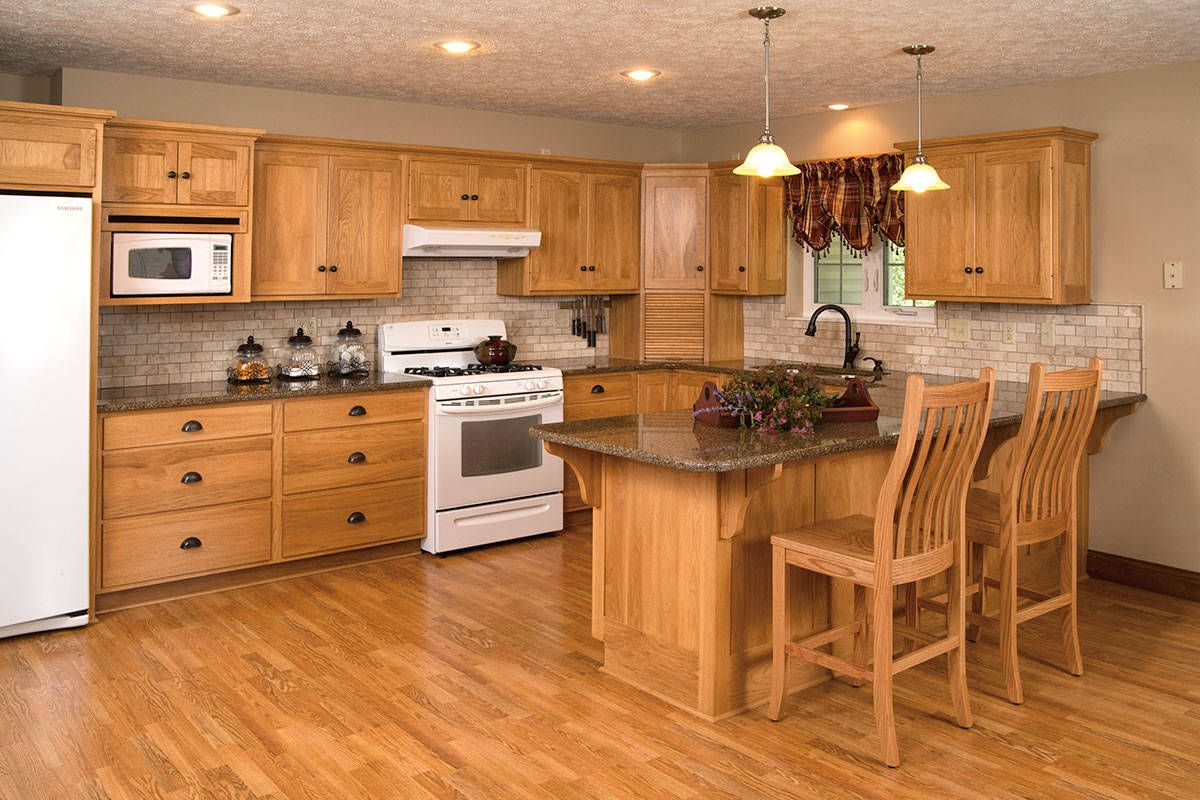 Schrock's Natural Hickory Hickory kitchen