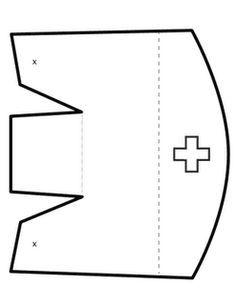 Template for nurse's cap