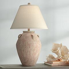 Ria Blush Terracotta Handle Jar Table Lamp