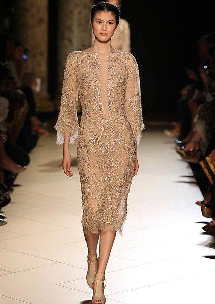 Elie Saab Alta Costura 2013: Vestidos en color oro y nude Image: 11