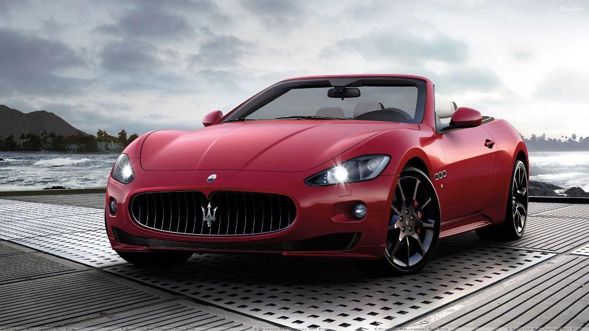 Cherry Red Maserati Grancabrio Maserati Granturismo Maserati