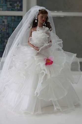 Bridal Wedding Suit Outfit for Tyler Sydney Tonner doll w961