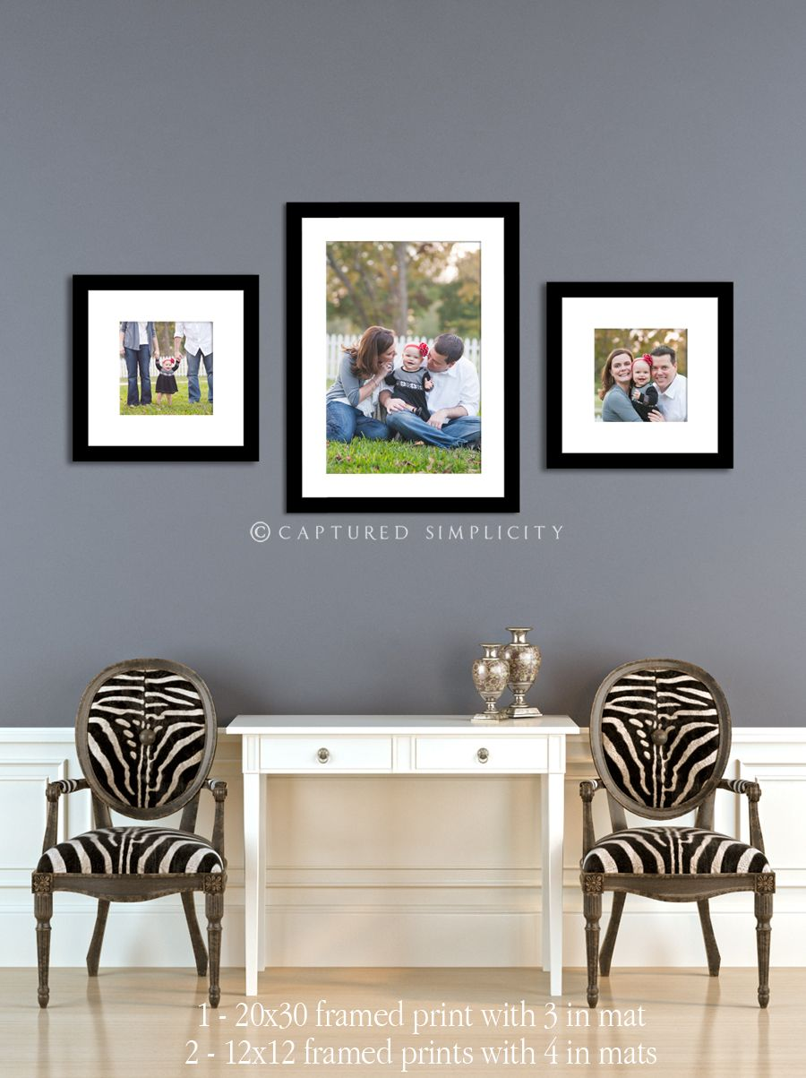 wall display for family session frames entry hall living room What