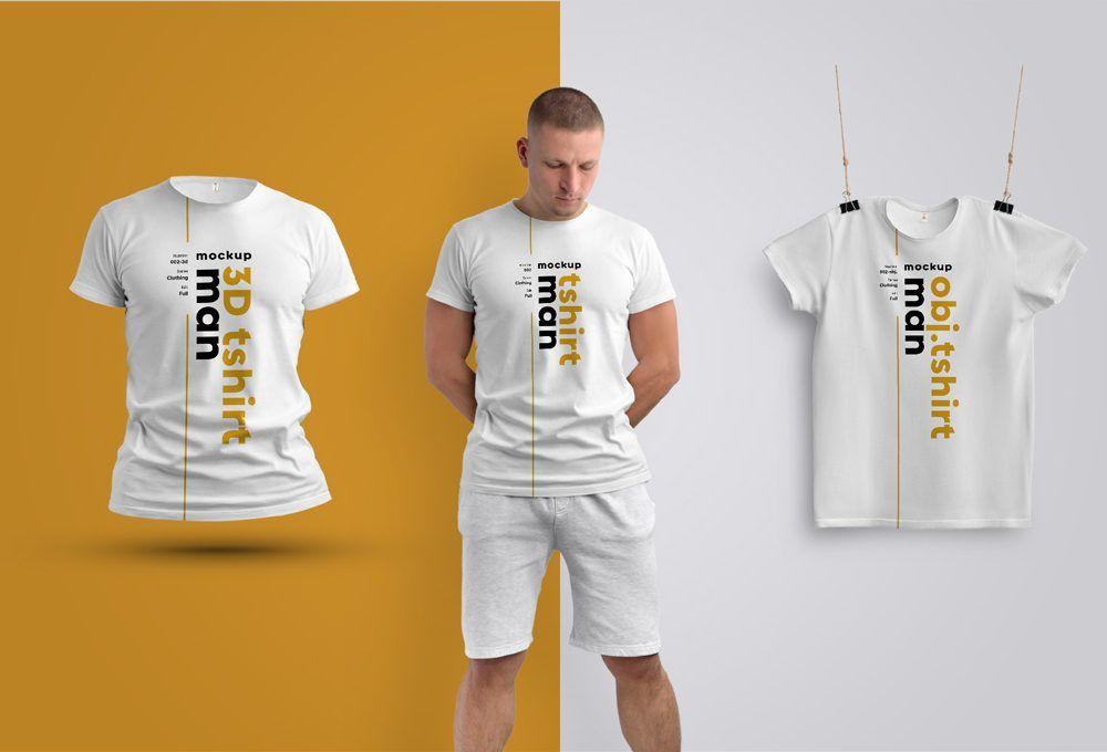 Download Three Men S T Shirts Jersey Mockup Psd Camisetas Camisas Marca Blanca