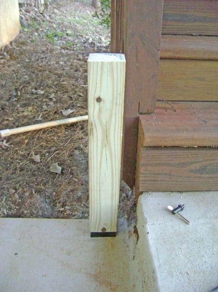 Best How To Build A 2X4 Deck Rail On A Concrete Patio Part 2 400 x 300