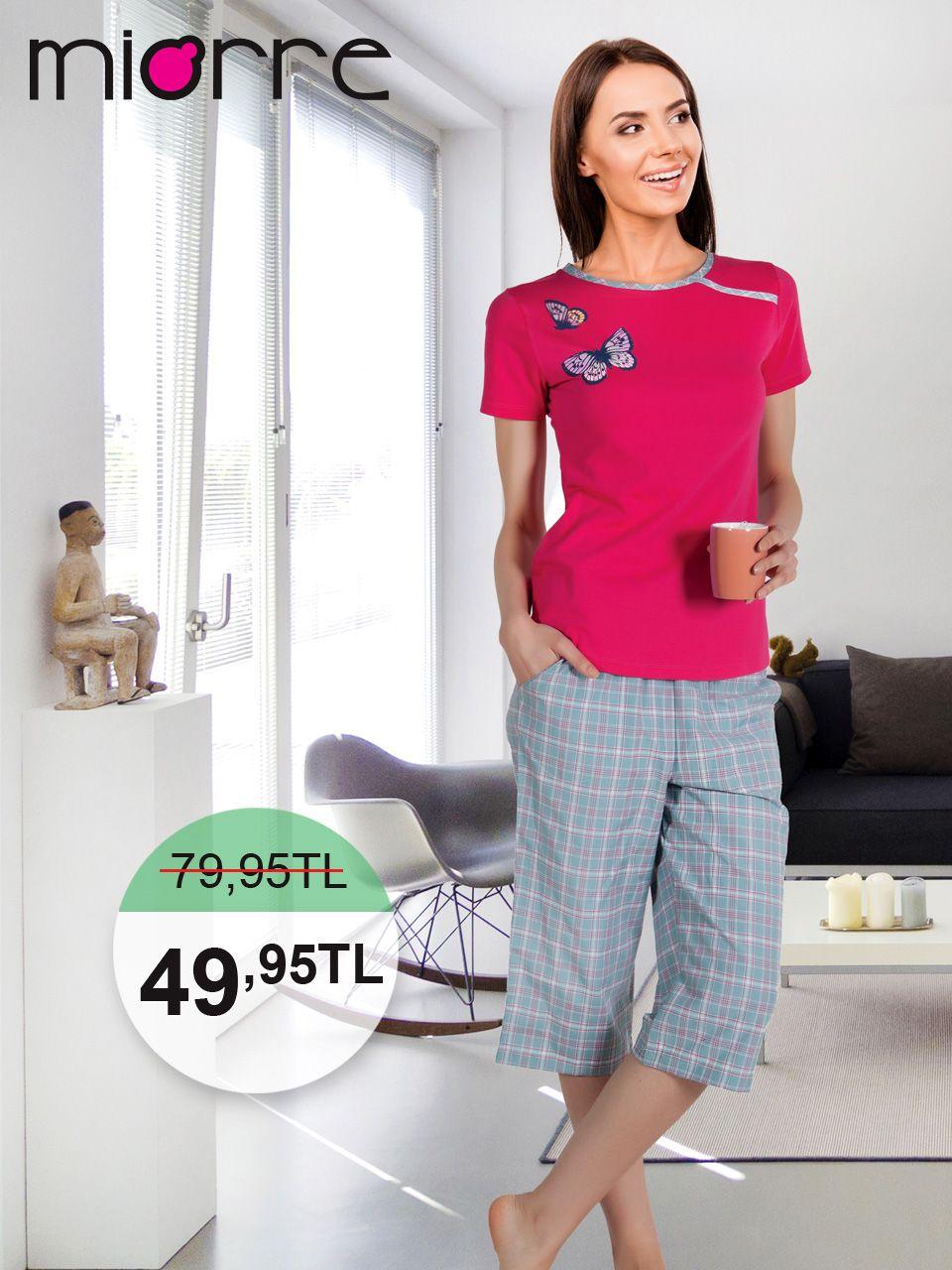 Miorre Bayan Pijama Takimi Avrupa Networking Pijama Giyim