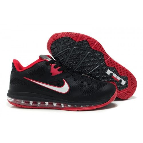 best sneakers d3105 d4942 510811-003 Nike LeBron 9 Low Black White Sport Red G06017