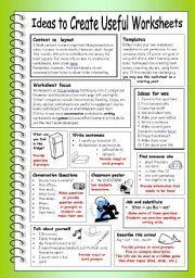 Worksheet Ideas - Synhoff