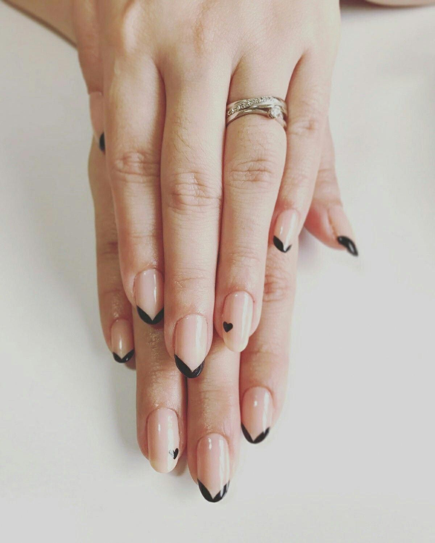 French Nails Short Shape Frenchtipnaildesigns French Tip Nails French Toe Nails Heart Nails