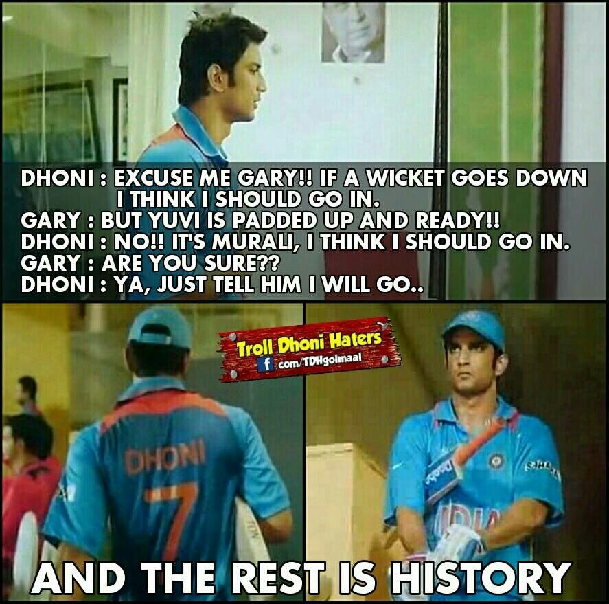 The Pic Says It All Cricket Sport Dhoni Quotes Ms Dhoni Movie
