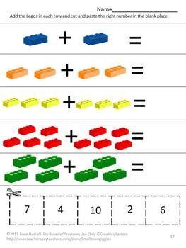 Colors Preschool or Kindergarten Math & Literacy Centers No Prep ...
