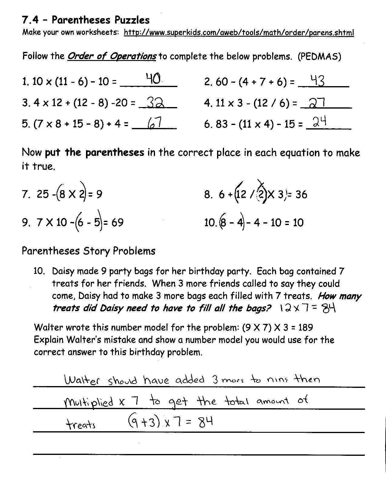 7th Grade Math Enrichment Worksheets Eureka Math