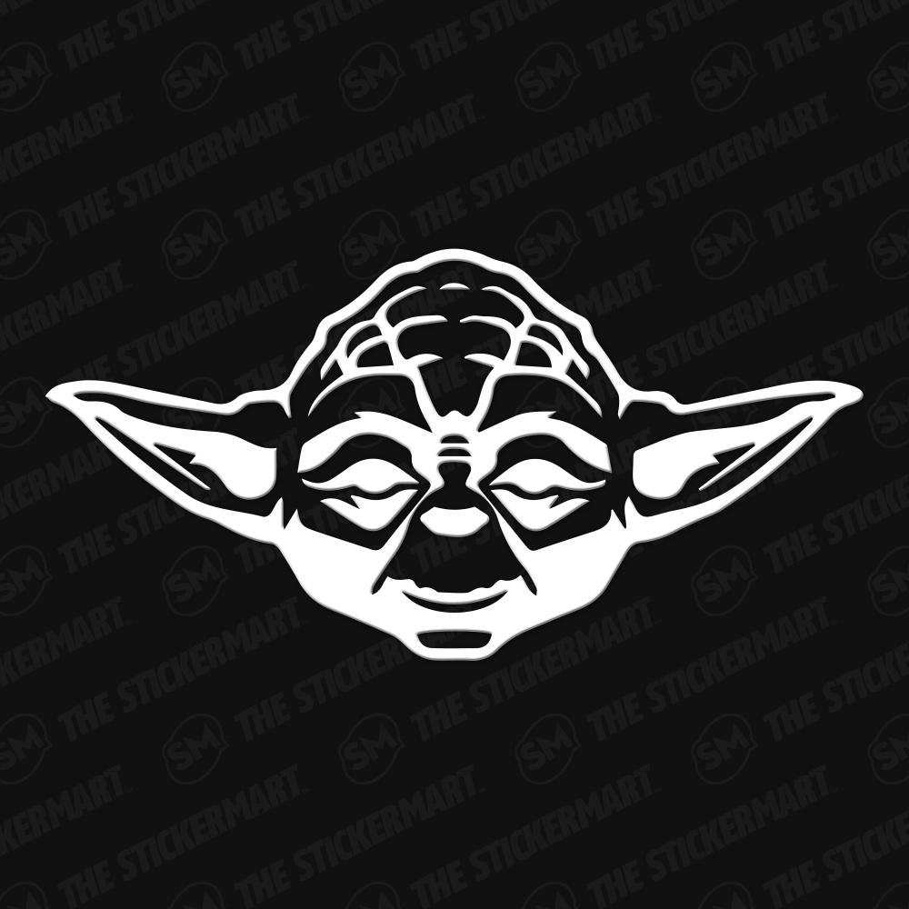 Yoda Head Vinyl Decal Star Wars Silhouette Star Wars Stickers Vinyl Decals Star Wars Decal