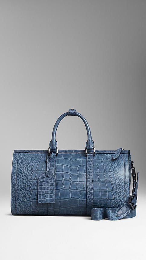 Burberry Polished Alligator Leather Holdall on shopstyle.co.uk ... b95acda5b8ed1