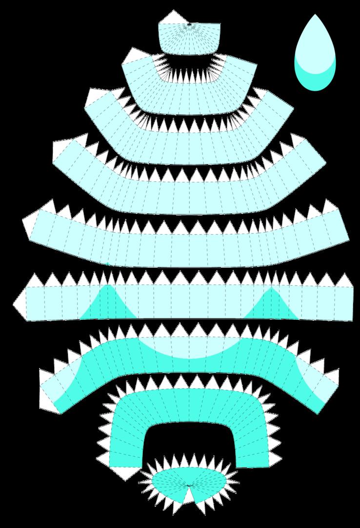 aquamarine papercraft template by portadorx deviantart com on