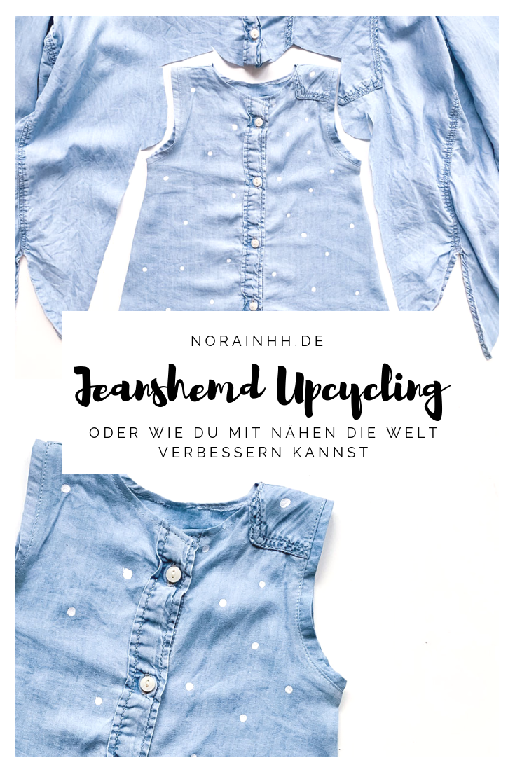 Turn old into new  turn big into small How about upcycling a denim shirt You could sew clothes that grow with your baby  for example a cute dress aufbewahrung garten klei...