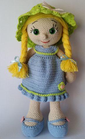 Crochet Doll Amigurumi Doll Crocheted Doll Toy Handmade Doll
