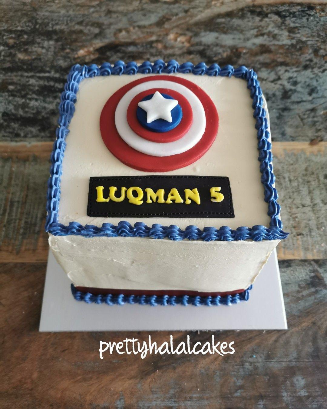 Captain America Square Buttercream Cake Captain America Cake America Cake Cake