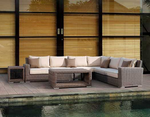 Thick Wicker Furniture Sets With Rounded Strands With Images Luxury Patio Furniture Patio Furniture Outdoor Furniture Sofa