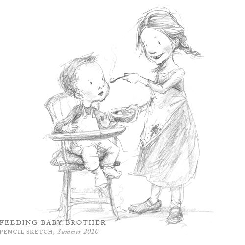 Feeding Baby Brother by Breezy Brookshire... This is ADORABLE