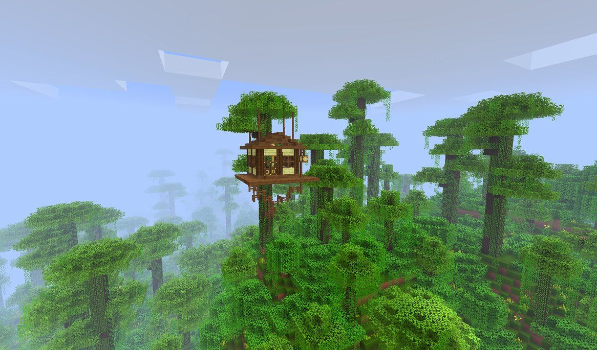 Minecraft Simple Jungle Treehouse Google Search Tree House