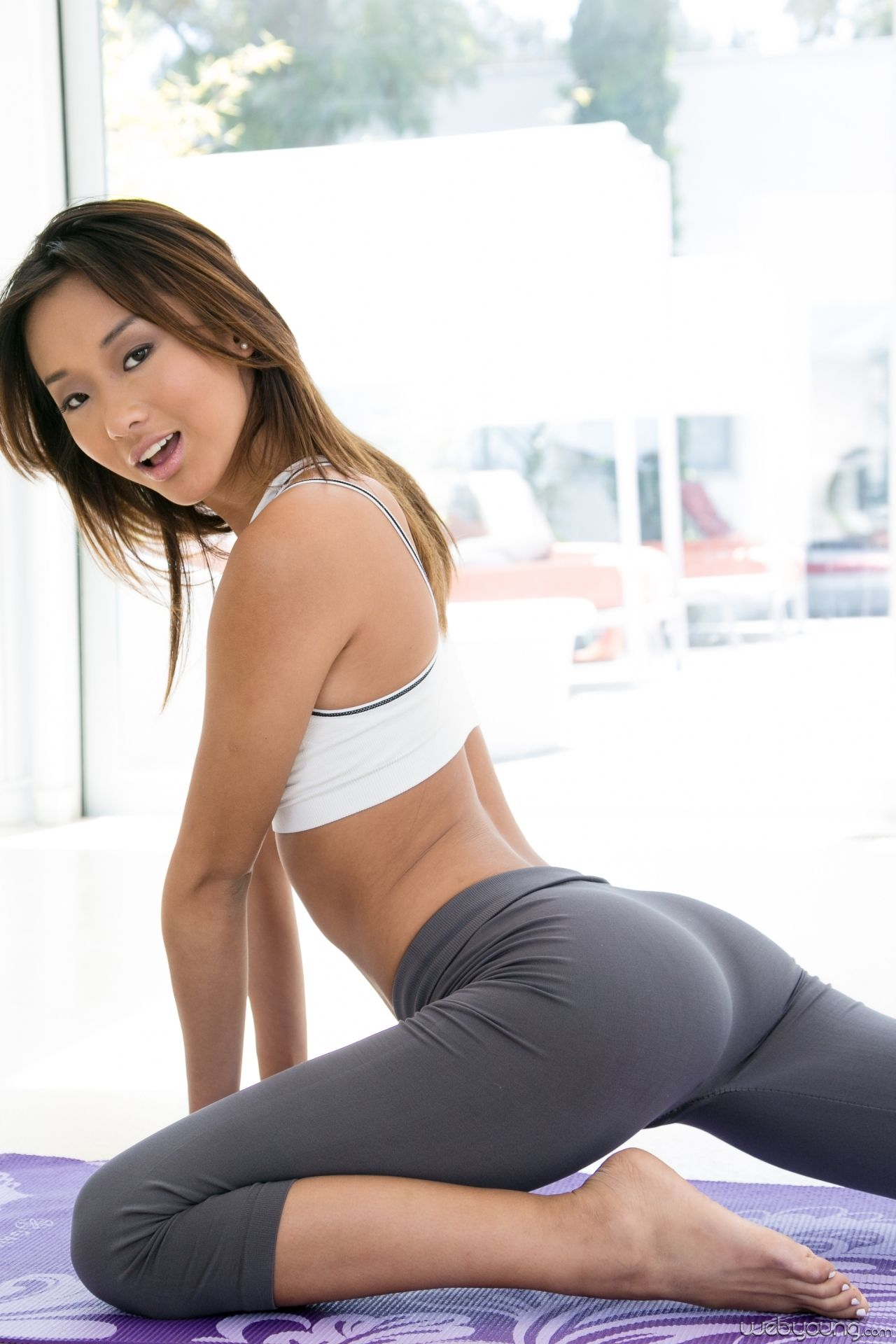 Really. certainly Hot girl in bright black yoga pants simply matchless