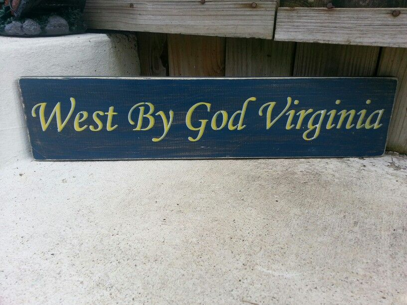 WEST VIRGINIA MOUTAINEERS Primitive Wood Sign Rustic